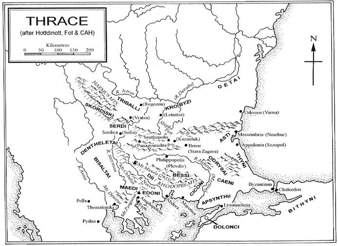 Harta cu traci odrisi